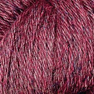 Llama Silk Vinröd melange
