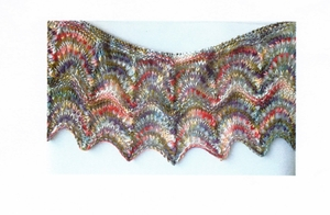 Watercolor shawl