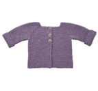 Rätstickad tröja 1 - 3 år i No.4 Ekologisk ull-nässlor