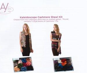 Kaleidoscop Cashmere shawl kit