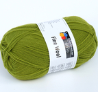 Fine wool mossgrön