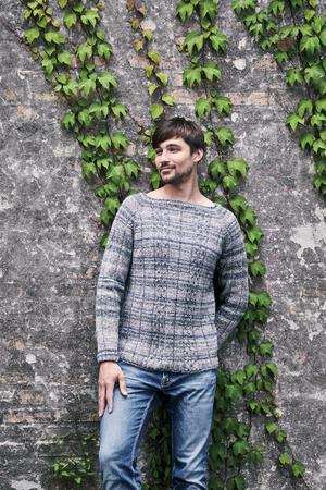Herrsweater med flätor - Rigmor