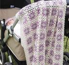 Babyfilt i mormorsrutor